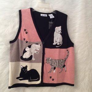 VINTAGE cat vest.